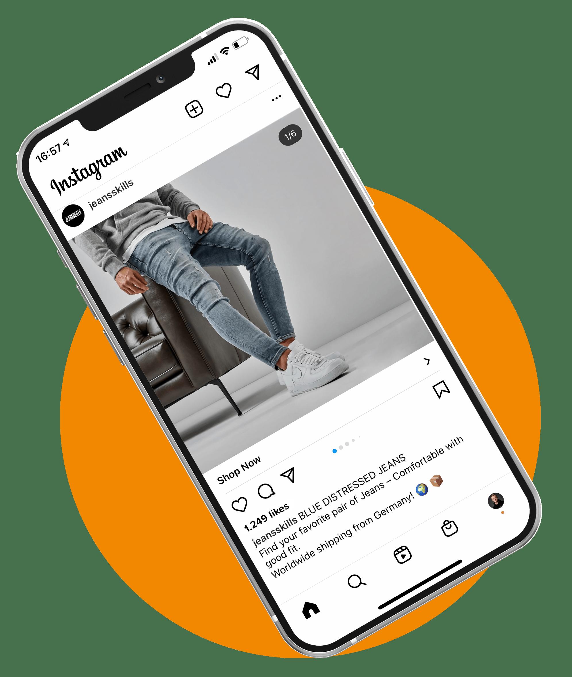 Facebook, Instagram Werbeanzeigen Mockup-NetVantage